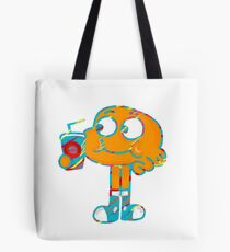 Colorful Doodle Darwin - The Amazing World of Gumball Tote Bag