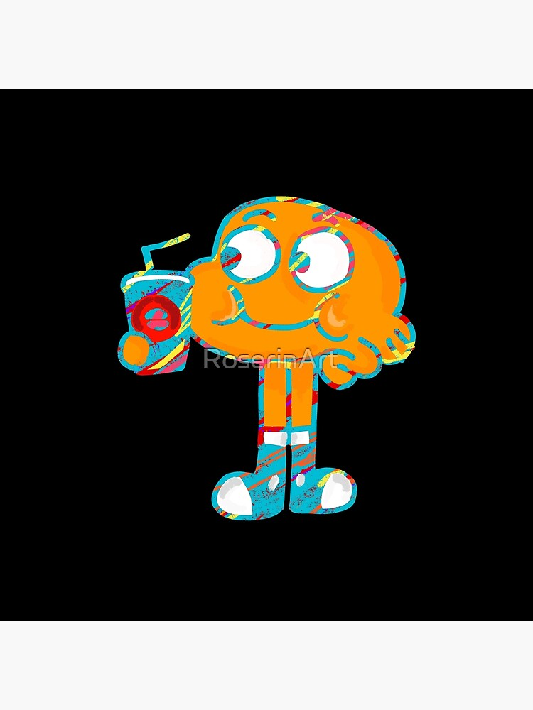 Colorful Doodle Darwin - The Amazing World of Gumball by RoserinArt