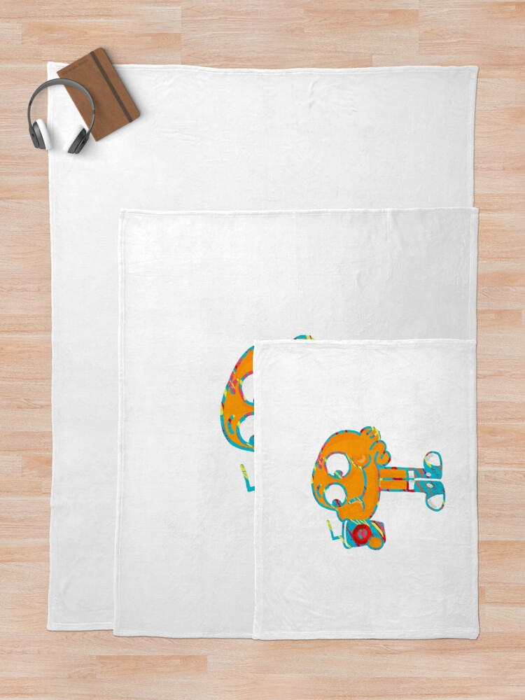 Alternate view of Colorful Doodle Darwin - The Amazing World of Gumball Throw Blanket