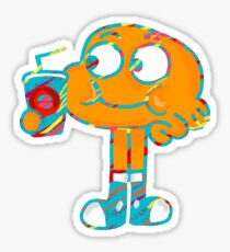 Colorful Doodle Darwin - The Amazing World of Gumball Sticker