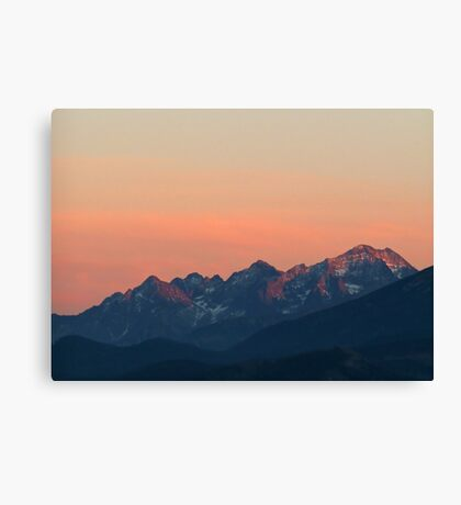 tatra sunset Canvas Print