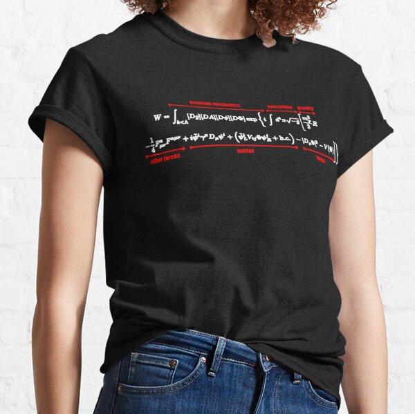 Standard Model Equation Physics Theory Higgs Boson Classic T-Shirt