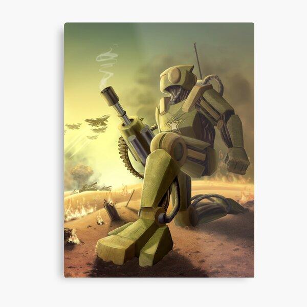 Robot's Dawn Metal Print