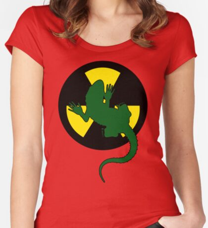 Radioactive Gecko - Funny Design Women's Fitted Scoop T-Shirt