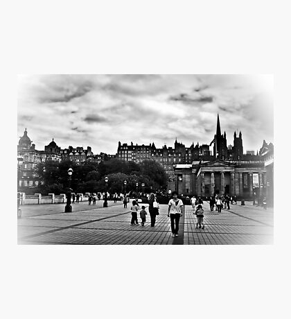 The City Of Edinburgh In B&W Photographic Print