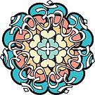 Pastel Floral Mandala by mintdawn