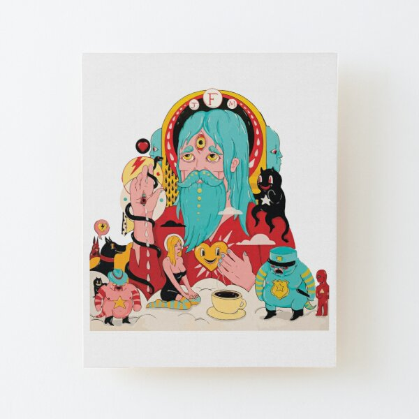 Father John Misty Fear Fun Album Art Wood Mounted Print