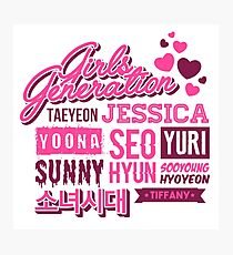 SNSD Girls' Generation Collage Photographic Print