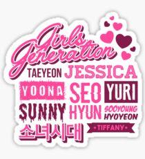 SNSD Girls' Generation Collage Sticker