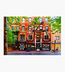 Lower East Side Street Scene Photographic Print