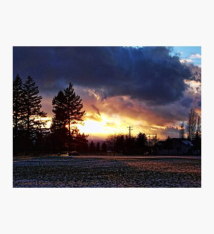 Cold Sunset Photographic Print