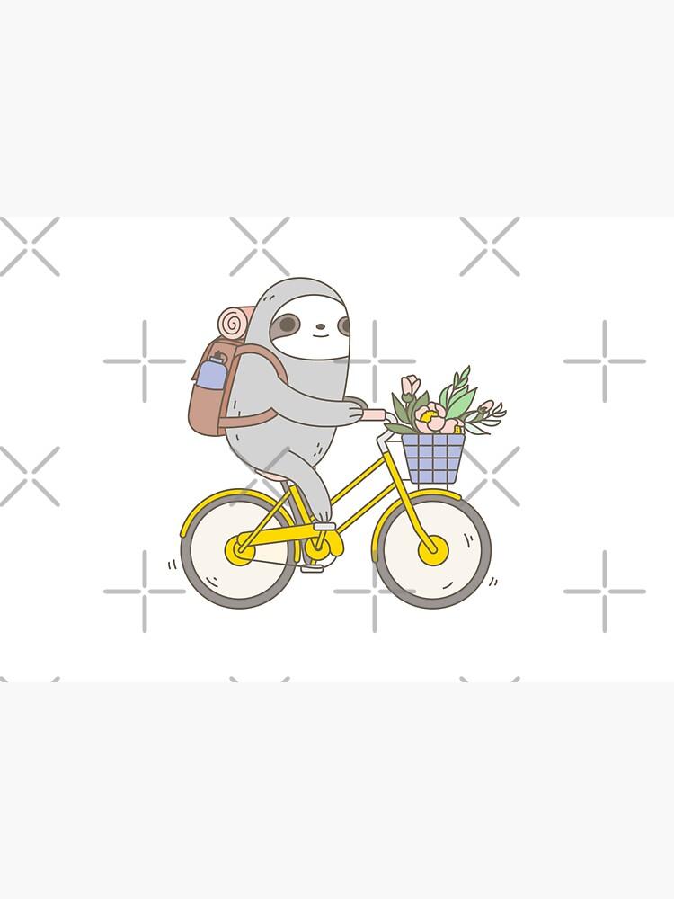 Biking Sloth  by Miri-Noristudio