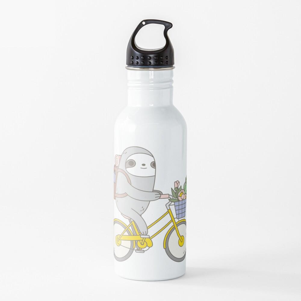 Biking Sloth  Water Bottle