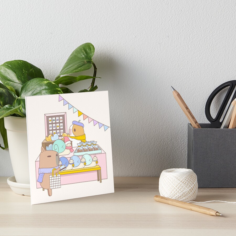 Bubu the Guinea Pigs, Craft Fair  Art Board Print