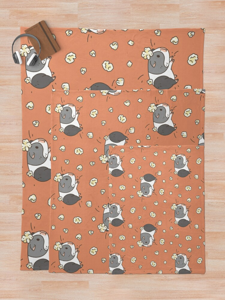 Alternate view of Guinea pig pattern, popcorning  Throw Blanket