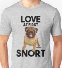 LOVE AT FIRST SNORT Unisex T-Shirt