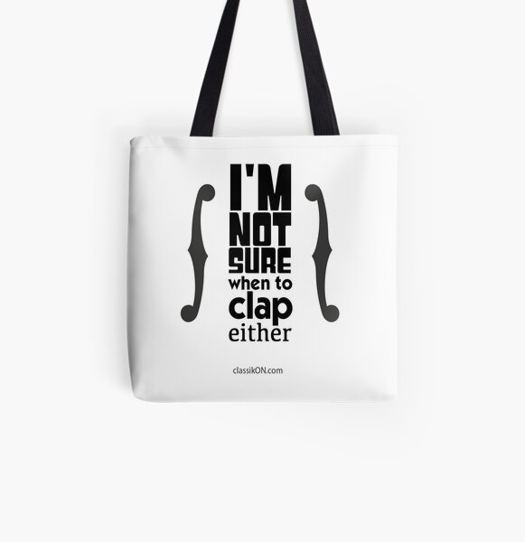 I'm not sure when to clap either - strings All Over Print Tote Bag