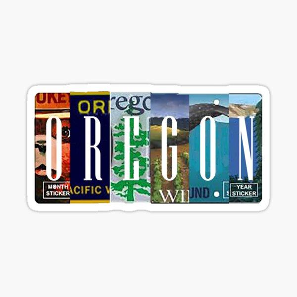 Oregon License Plates Sticker