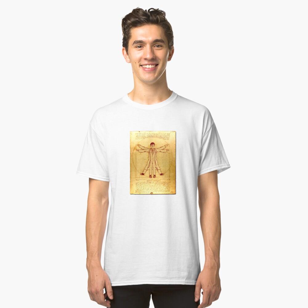 Da Vinci's Vitruvian Timelord Classic T-Shirt Front
