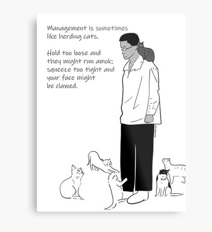 What Is Management? Metal Print