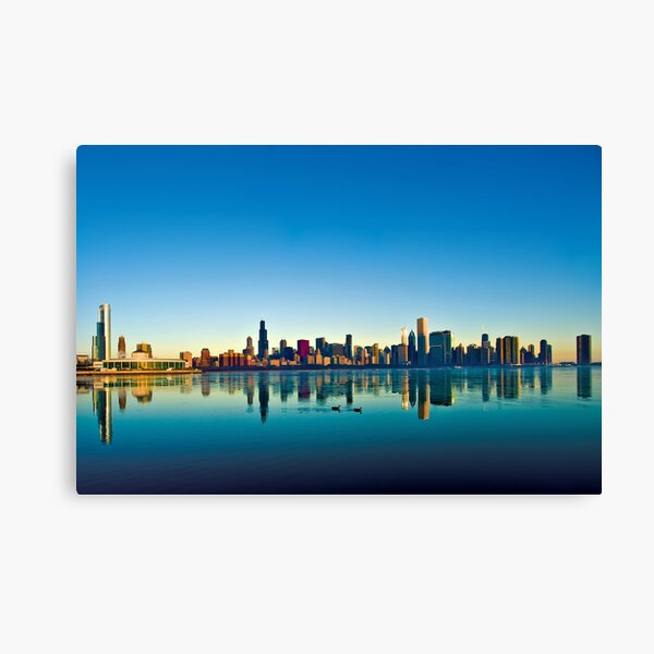 Chicago skyline at sunrise. Canvas Print