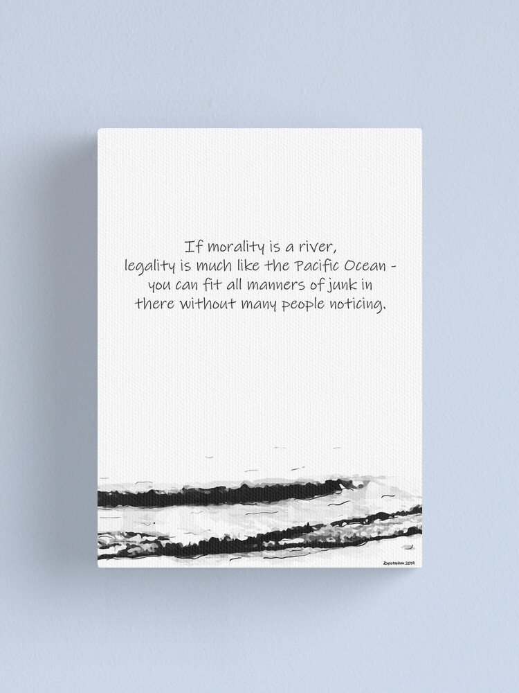 Alternate view of Morality & Legality Canvas Print
