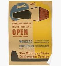 WPA United States Government Work Project Administration Poster 0868 The National Defense Industries are Open Poster