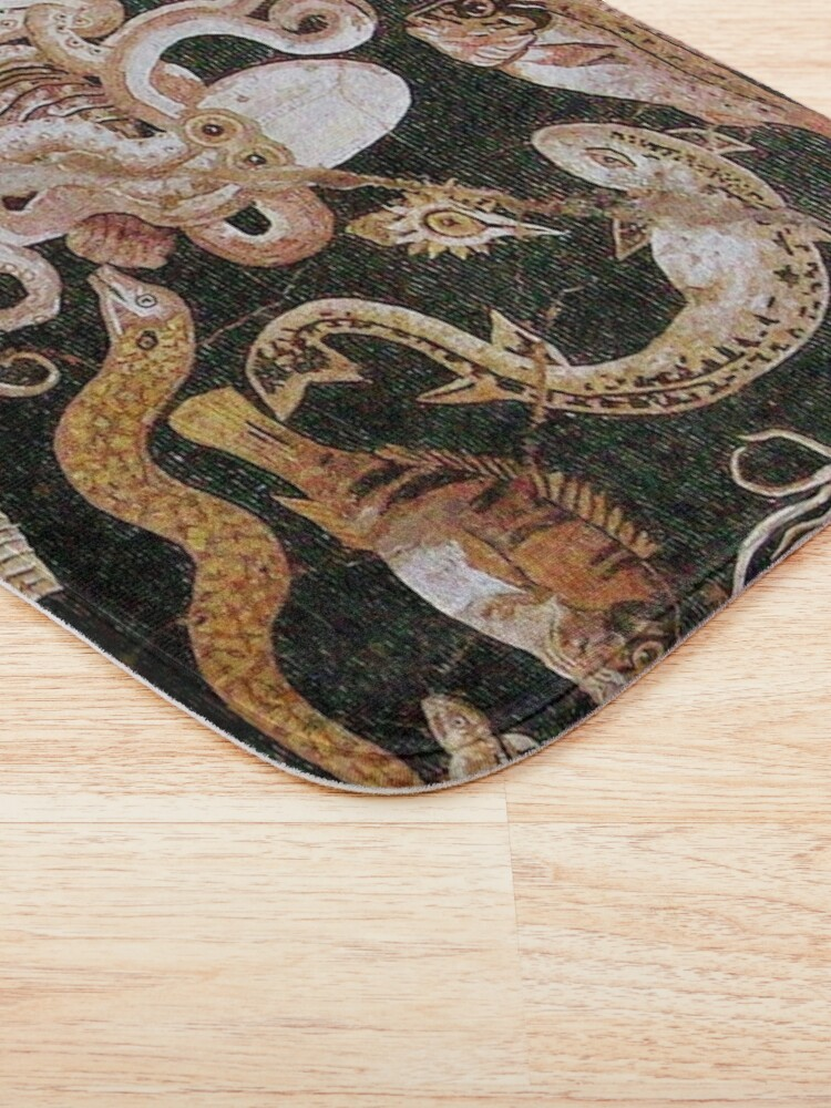 Alternate view of POMPEII COLLECTION / ANTIQUE OCEAN - SEA LIFE SCENE,OCTOPUS AND FISHES Bath Mat