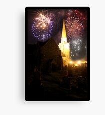 fireworks over St.Nick's Canvas Print