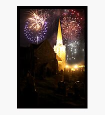 fireworks over St.Nick's Photographic Print
