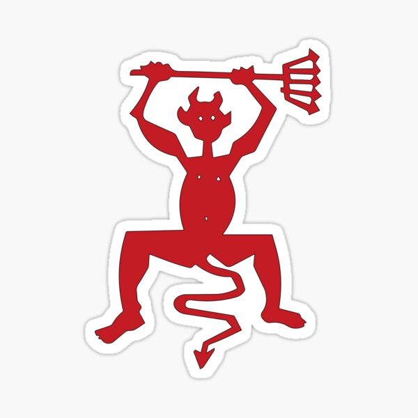 Timanfaya Devil Pegatina