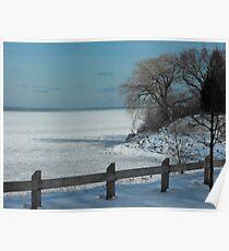 Winter on Lake Ontario Poster