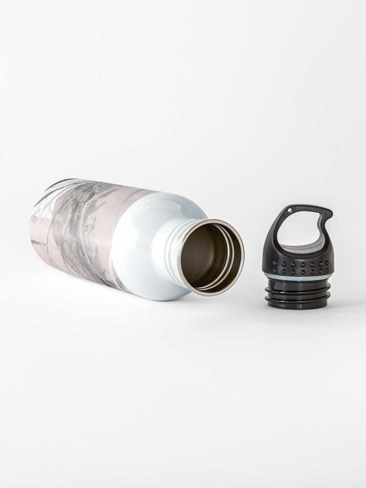 Alternate view of Blush and Grey Geometric Water Bottle