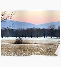 Catskill Mountains at Dusk Poster