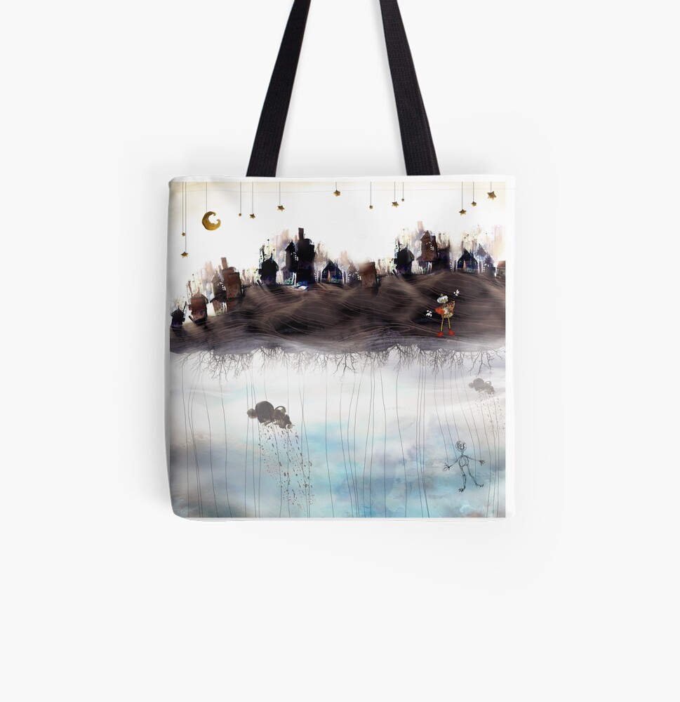 Monde suspendu - The suspended world All Over Print Tote Bag