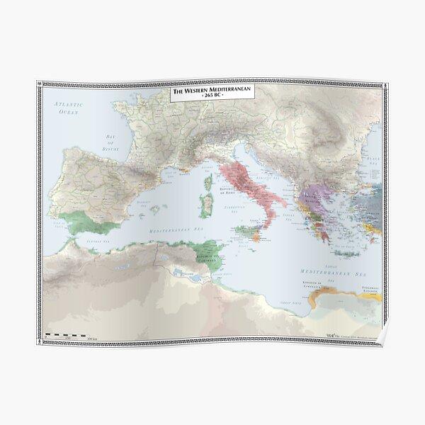 Western Mediterranean 265 BC Poster
