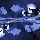 On dort mieux quand il pleut - You sleep better when it's raining by art-mella