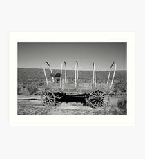 Wagon on the Oregon Trail Art Print