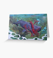Clash of the Sea Monsters Greeting Card