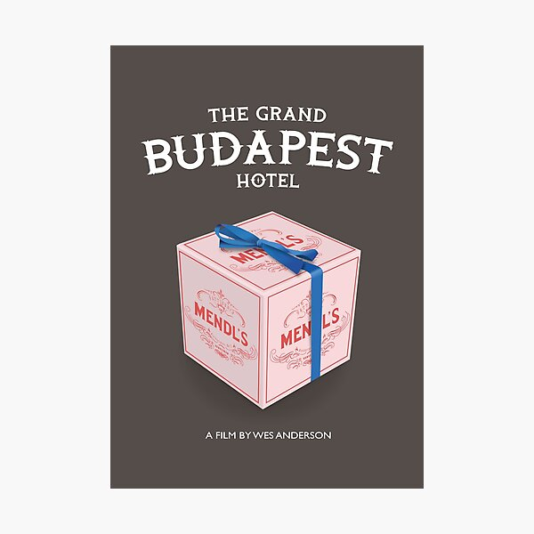 The Grand Budapest Hotel - Alternative Movie Poster Photographic Print