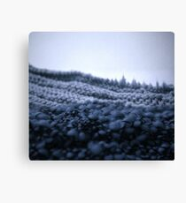 La montagne tricottée - Knitted montain Canvas Print