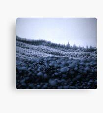 La montagne tricottée - Knitted montain Canvas Print