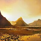 Milford Sound at Sunset by S T
