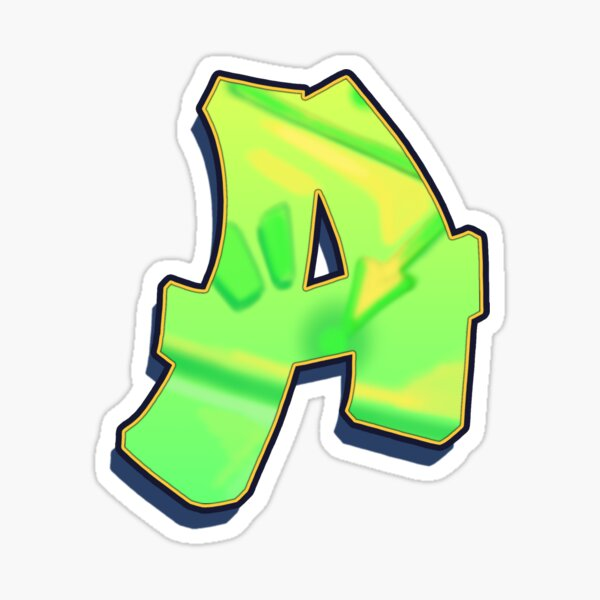 A - green/yellow Sticker
