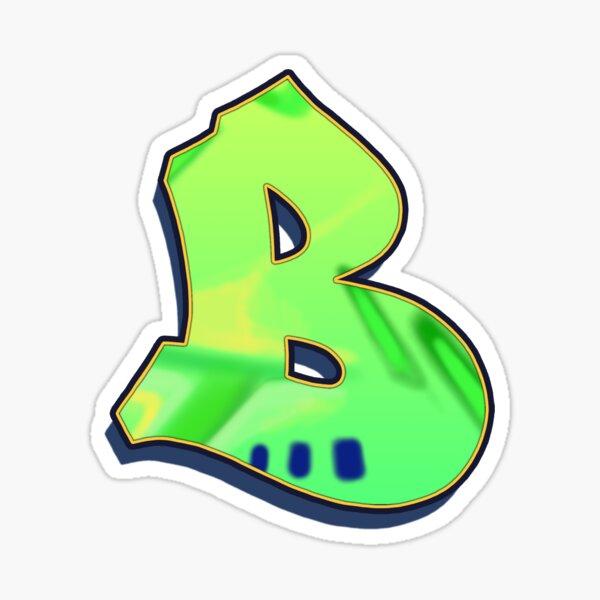 B - green/yellow Sticker