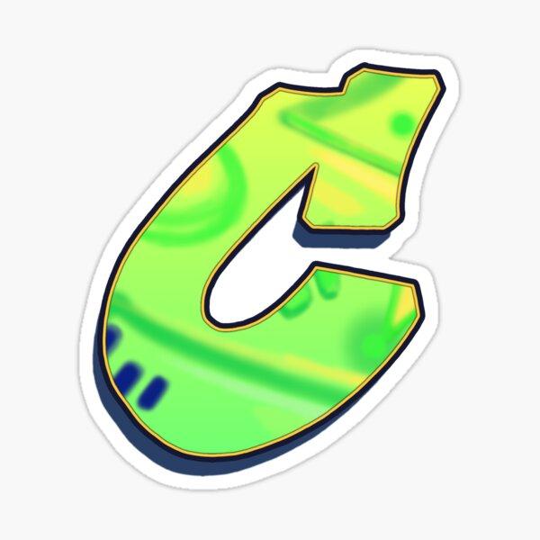 C - green/yellow Sticker