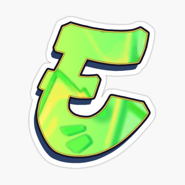 E - green/yellow Sticker