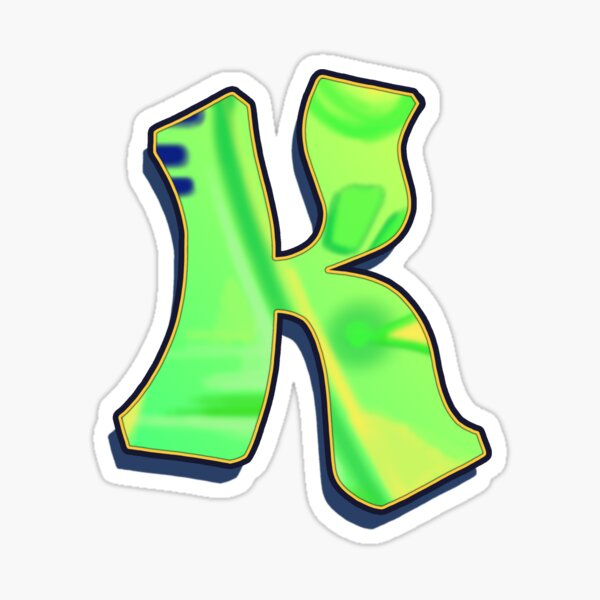 K - green/yellow Sticker