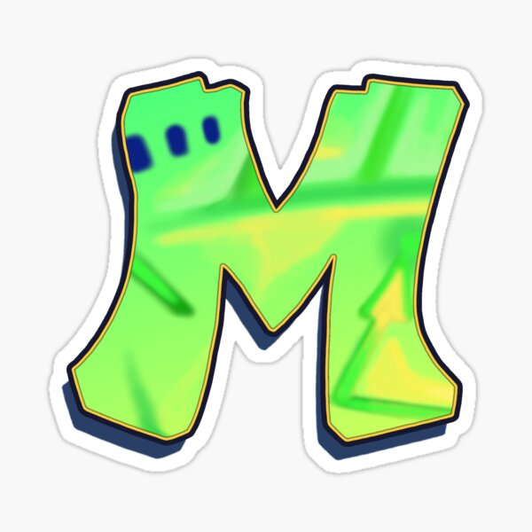 M - green/yellow Sticker
