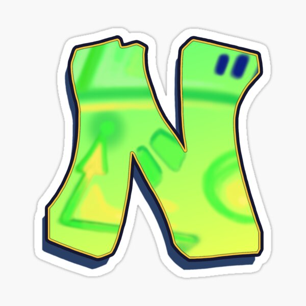 N - green/yellow Sticker